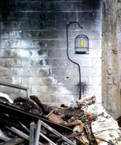 Banksy Canary in Detroit