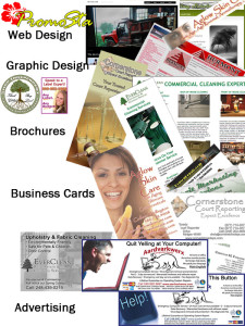 Multiple Marketing materials developed by PromoSta