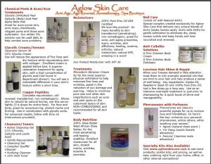 Aglow Skin Care Brochure