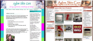 Aglow Skin Care Site Redesign