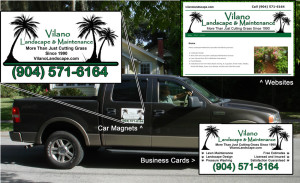 Websites, Car wraps, and business cards with consistent corporate identity.