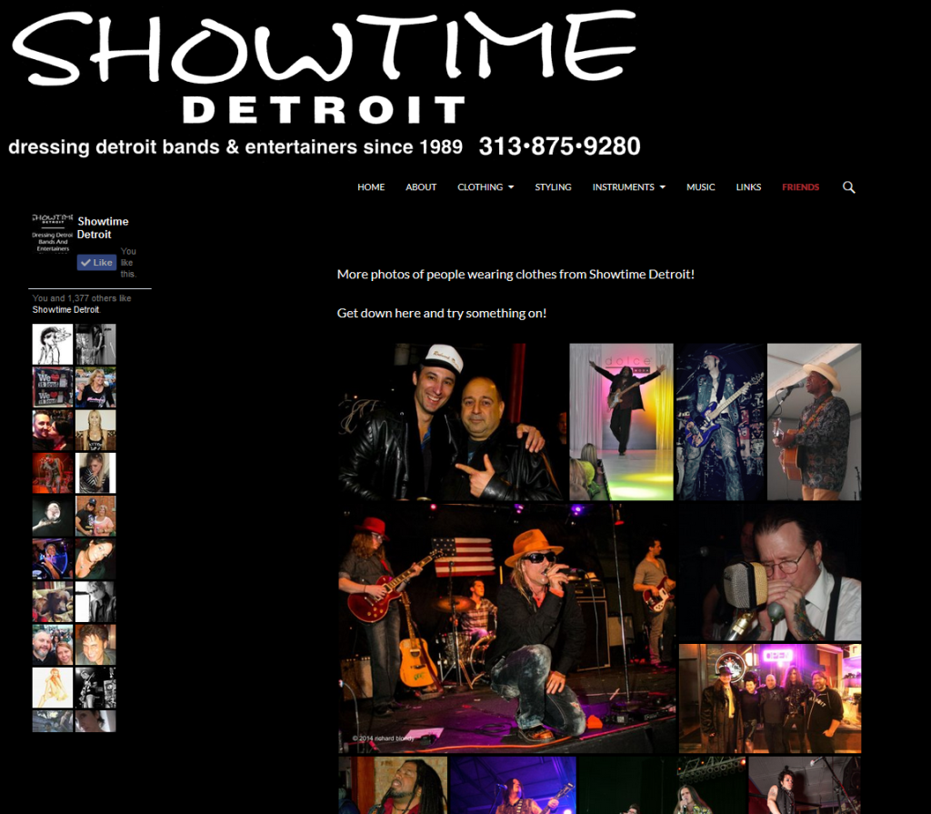 Showtime Detroit Website